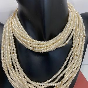Freshwater Pearl necklace 10 Strand/14k clasp